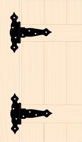 ZTO 200 C Závěs trojúhelníkový ozdobný 200x50x190x2,5 mm černý