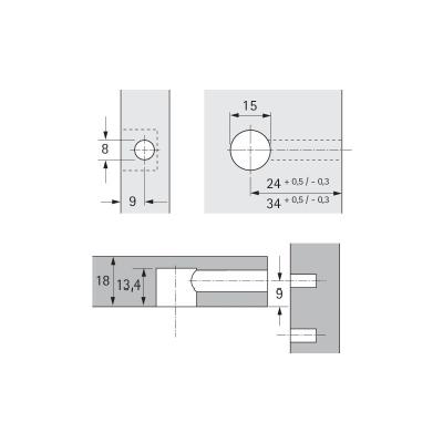 Excentr Rastex 15 bez osazení 0013961