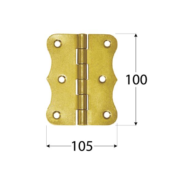 ZO 100  Závěs stavební ozdobný 100x105x2,0 mm 1