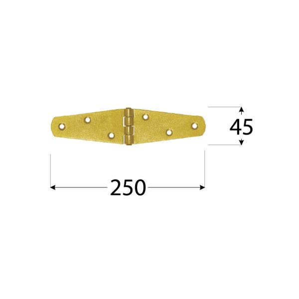ZTS 250 Závěs trojúhel. splétaný 250x45x2,0 mm 1