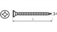 Vrut uniquadrex  5×80 ZnB závit 2/3  (450ks/bal)