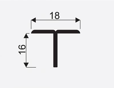 Spojovaci lista T oliva 3m