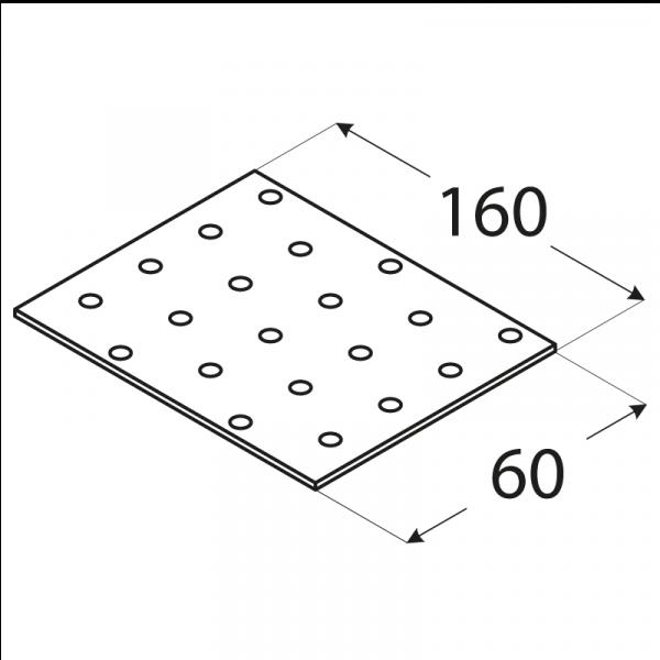 PP6 - destička perforovaná 160x60x2,0 mm 1