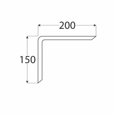 WDG 200 konzole 150×200 překližka ohýbaná, buk