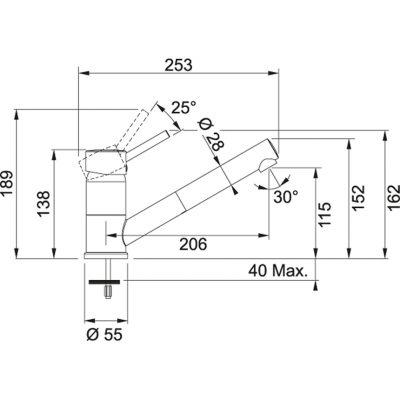 Baterie FG 7486.071 onyx/chrom