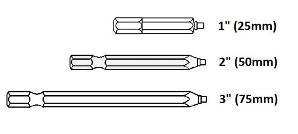 Bit Uniquadrex R-2/1 kratky 25mm - profi 1