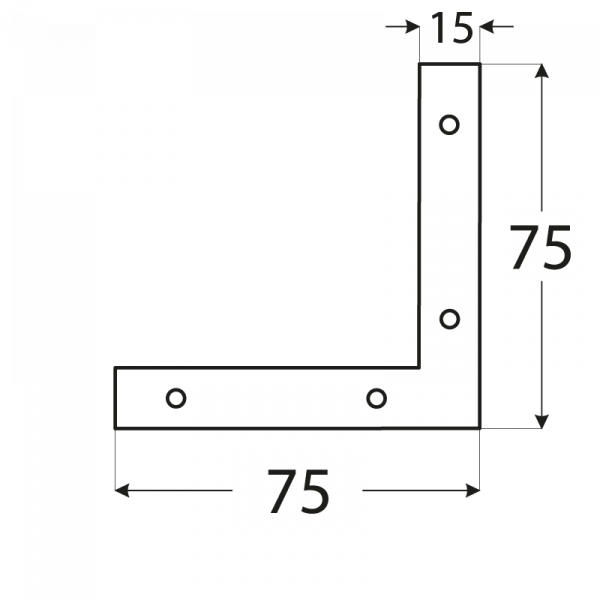 NA7 - rohovnik 75x75x15x2,0 mm 1