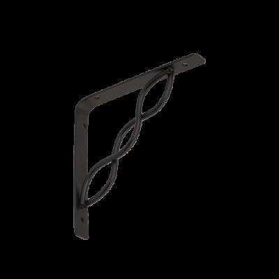WPRP 150 konzole se splétanou vzpěrou 150×150 černá