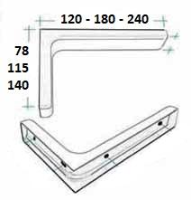 Konzola 180*115 kryt plast bílá 2
