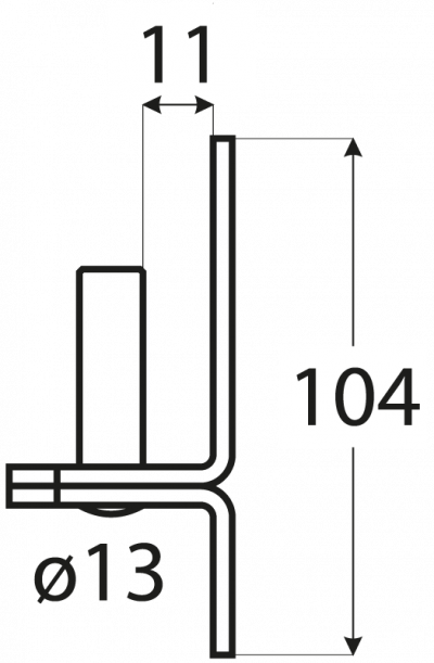 C 13/11    držák čepu  d 13 mm /11 mm
