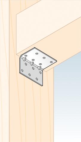 KMP 2 - úhelník montážní s prolisem 40x40x60x1,5 mm 2