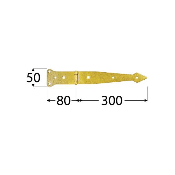 ZBP 300 Závěs brankový pásový 300x80x50x2,5 mm 1
