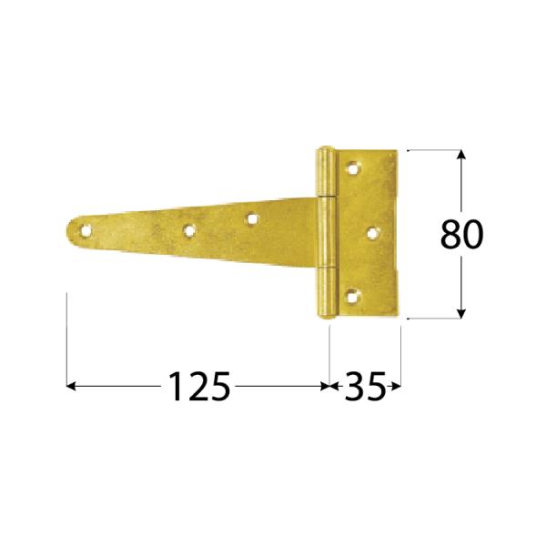 ZT 125 Závěs trojúhel. 125x35x80x2,0 mm 1