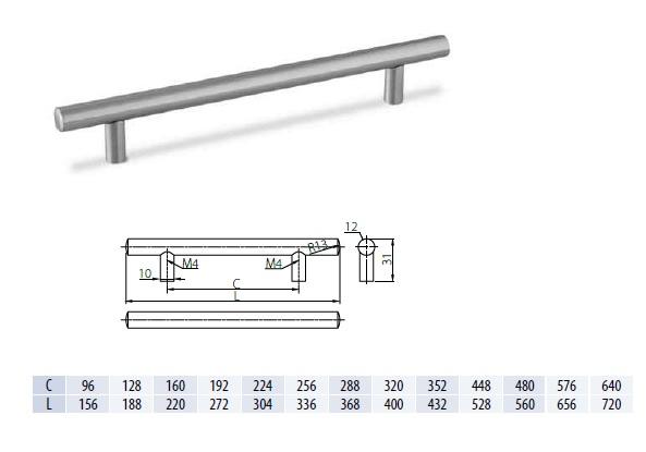 Uch. Reling 480x560 inox RS-560480-06 DOPRODEJ 1