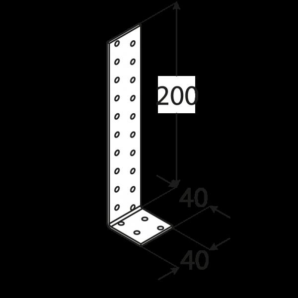 KK1 - úhelník kotevní 200x40x40x2,0 mm 1