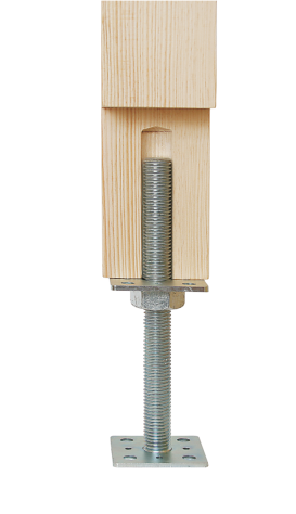 PSR 80 (80*250) Patka sloupku stavitelná šroubem d24 2
