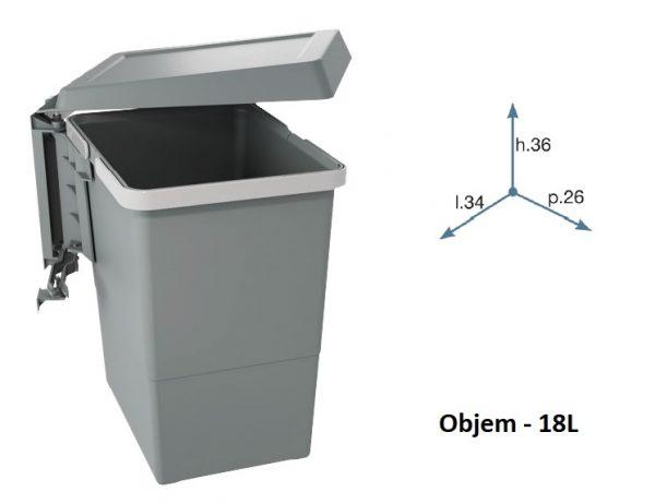 Kos odpadkový SWING 2 18L 1