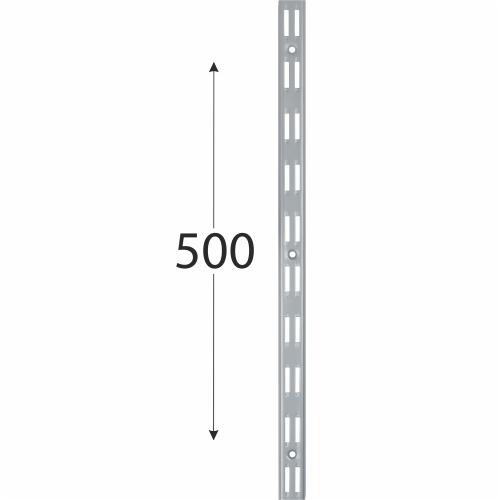 WLD 500s nosná konzolová lišta dvojitá 500 mm šedá 1