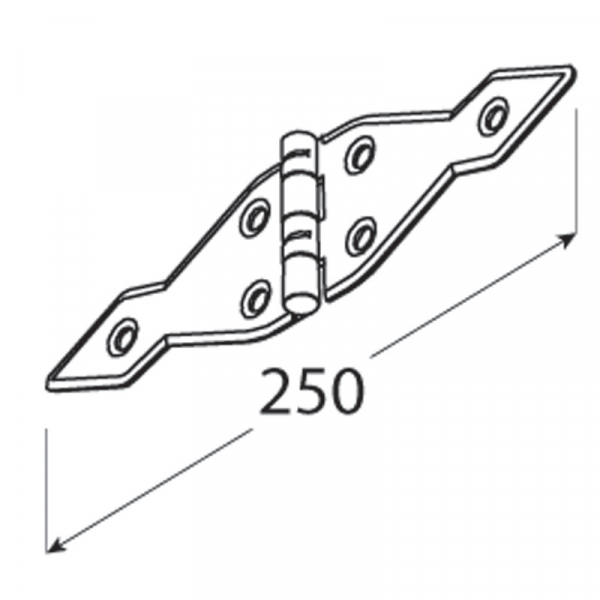 ZATS 250 Závěs trojúhelníkový 250x1,6 1