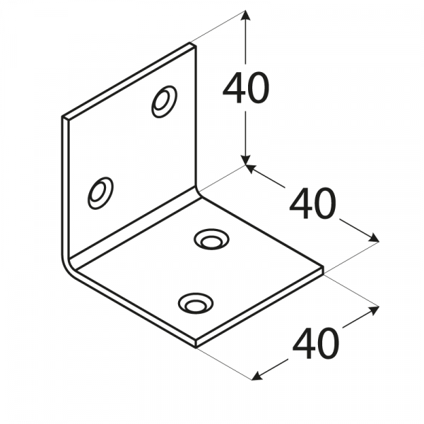 KSO 2 - úhelník široký (zinc coated) 40x40x40x1,5 mm 1