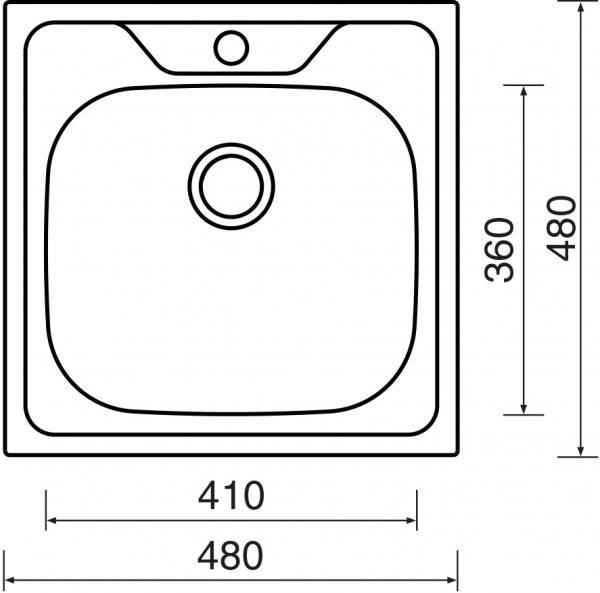DrezS nerez Classic 480 V 480*480mm 2