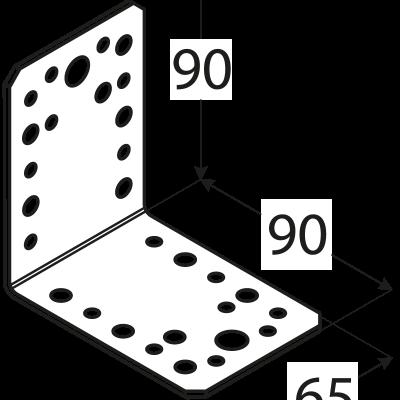 KL4 – úhelník spojovací 90x90x65x2,5  mm