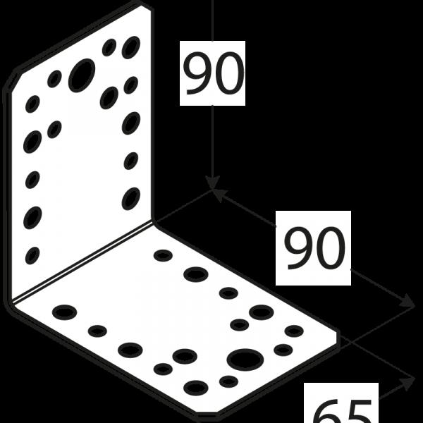 KL4 - úhelník spojovací 90x90x65x2,5 mm 1