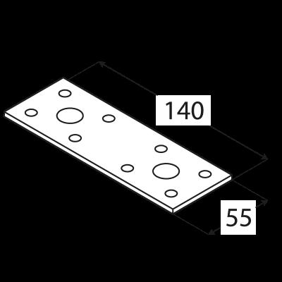 LP2 – spojka plochá 140x55x2,5 mm