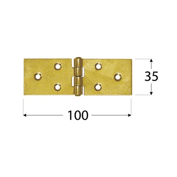 Z 100 b Závěs stavební 100x35x1,5 mm 1