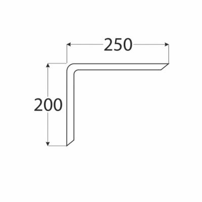 WDG 250 konzole 200×250 překližka ohýbaná, buk
