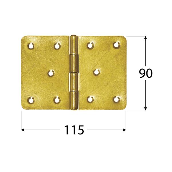 Z 115  Závěs stavební 115x90x2,5 mm 1