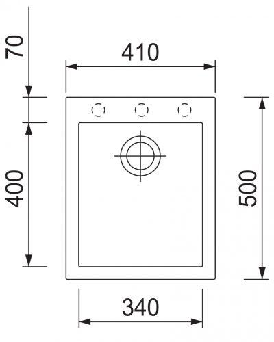 DrezS granit Cube 410-30 granblack