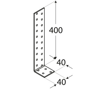 KK3 – úhelník kotevní 400x40x40x2,0 mm