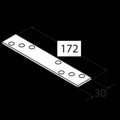 LG1 – spojka tlustá 172x30x3,0 mm