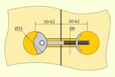 Spoj. sr. na PD ZIPBOLT 35x114mm
