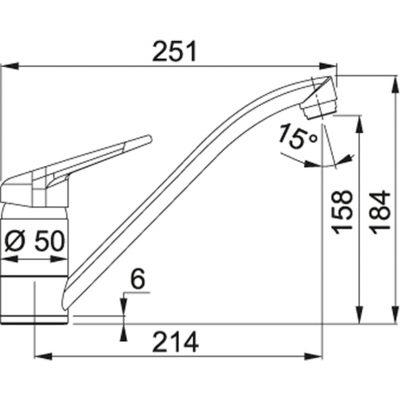 Baterie FC 9541.085 pískový melír/chrom