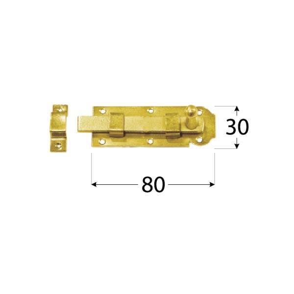 W 80   Zástrč jednoduchá 80x30x 3 mm 1