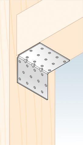 KMP 6 - úhelník montážní s prolisem 60x60x80x1,5 mm 2