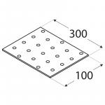 PP15 - destička perforovaná 300x100x2,0 mm 1