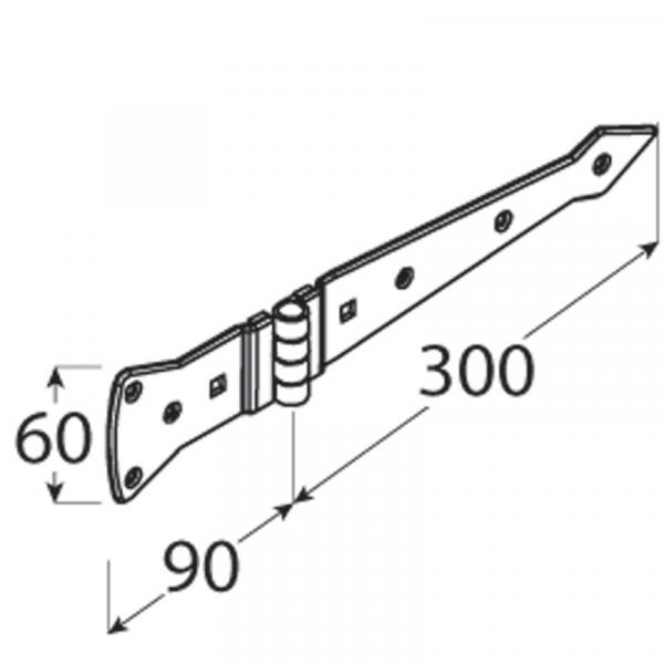 ZABP 300 Závěs vratový dekorační 300x2,6 1