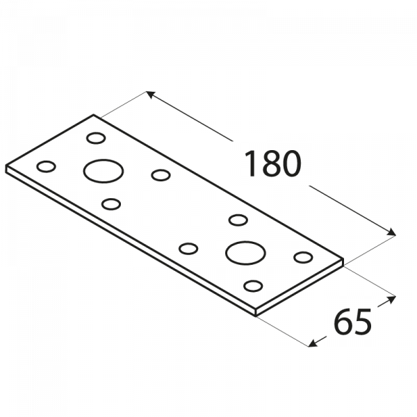 LP5 - spojka plochá 180x65x2,5 mm 1