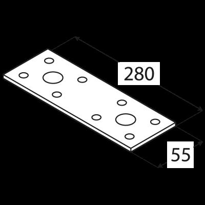 LP4 – spojka plochá 280x55x2,5 mm