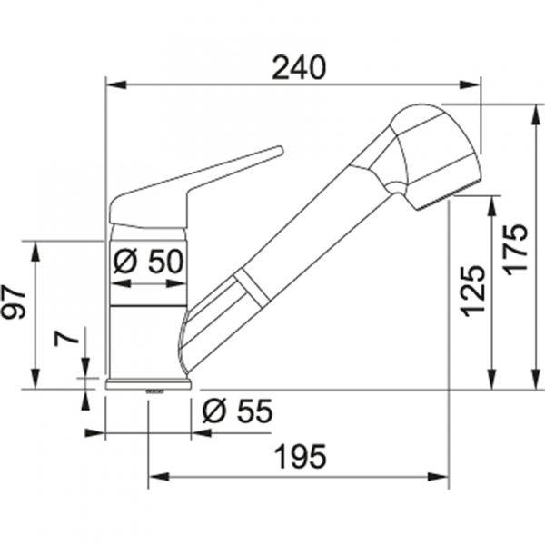 Baterie FC 9547.073 vanilka/chrom 2