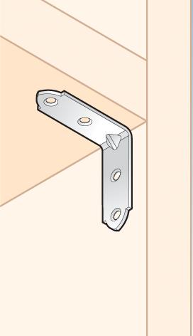 KWO 3 / KW 50 - úhelník úzký50x50x17x2,0 mm (zinc coated) 2
