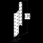 LK1 - krokvová spojka levá 32x170x2,0 mm 2