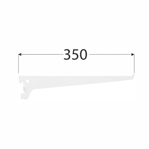 WSS 350b systémová konzola jednoduchá 350 mm bílá 1