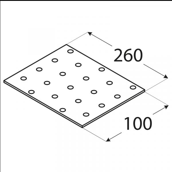 PP14 - destička perforovaná 260x100x2,0 mm 1