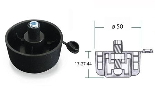Kluzak s regulaci 17mm cerny 1
