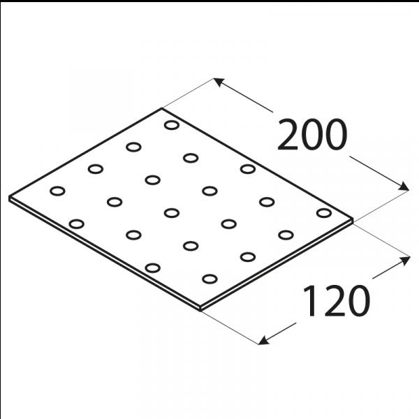 PP18 - destička perforovaná 200x120x2,0 mm 1