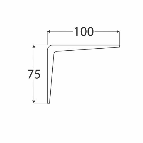 WS 100 konzole stavební bílá 75x100 1